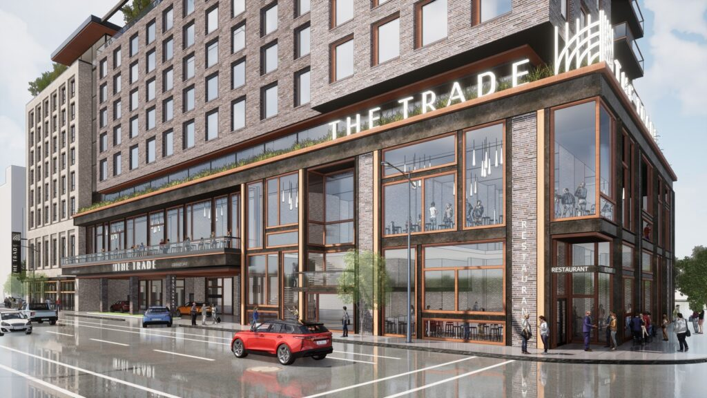 exterior rendering of The Trade Milwaukee